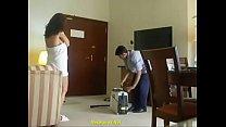 Indian Bhabhi flashing towel room service