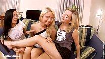 Orgasmic Threesome sensual lesbian scene by Sap...