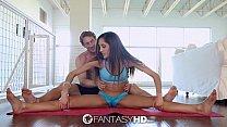 FantasyHD - Chloe Amours flexible legs are wide...