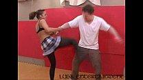Pantyhose sexy fight