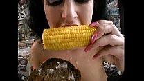 cum on food - corn cob cum
