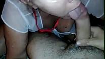 Videos de Sexo Morena branquinha batendo boquete e levando gozada nos peitos
