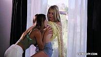 Lovely two juicy ass lesbians Uma Jolie and Bla...