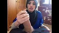 Young Arab Penelope Cum Lets Tutor Screw Her