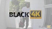BLACK4K. Black plumber on white hottie with wonderful shapes