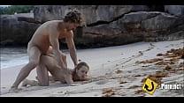 Hot sandy beach doggystyle