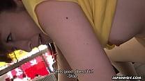 Japanese waitress Mimi Asuka gets finger fucked...
