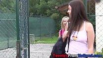 Tiny tennis teen fingered