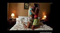 Rusian Lesbian Sisters Explore Their Bodies