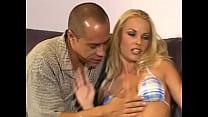 Blonde slut gets double teamed anal