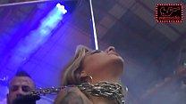 Gaby y Claudio en el escenario de SexPlanet Ero...