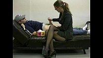 Lady boss masturbates her lazy employee to igni...