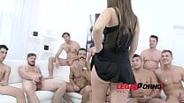 10 man gangbang for Anina Silk SZ1137