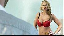 Sexy blonde pornstar babe Leigh Darby cum blast...