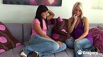 Mackenzee Pierce & Barbie Addison Suck On Each ...