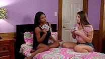 Booty College Girl Tricking Her Ebony Friend Into Lesbian Sex - Nia Nacci and Gia Derza