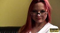 British redhead sub spanked before cockriding