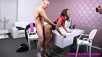 FemaleAgent Impressive cumshot all over beautiful agents big breasts