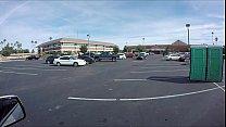 Porta Gloryhole Thick teen swallows loads of cum parking lot