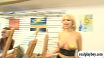 Painting class turns to threeway session with h...