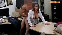 Horny busty woman fucked in the backroom for a ...