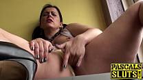 Hot big ass mature brunette Montse finger fucki... thumb