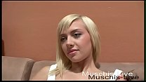 Blonde student makes first amateur video