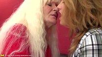 Old lesbian granny fucks young sweet lesbian gi...