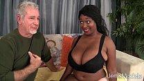 Ebony plumper Marie Leone taking a fat cock