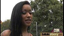 Ebony gets group cumshots 26 thumb