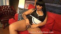 Demii Nova Latin Tranny Maid ass worship and an...