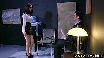 Anna de Ville ass fucked by a big cock in an office - download porn videos