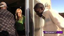 Stiff dick disappears in blonde girl