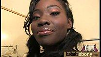 Interracial bukkake sex with black porn star 24