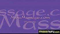 Naughty chick gives an amazing Japanese massage 19