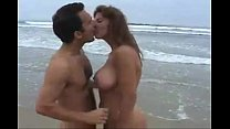 Couple fucking hard on Beach