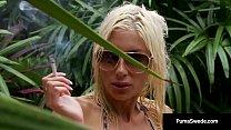 Smokin Blonde Puma Swede Finger Bangs Her Cunt ...
