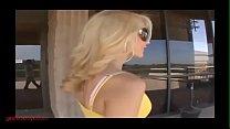 GirlsFuckToys.com hot blond mommy fucks hot blond teeny with dildo strapon