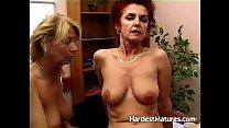 Mature ladies testing some dildos