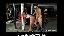 Sexy Asian mechanic Skin diamond rides big hard...)