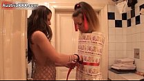 Nasty brunette slut gets horny showing Thumbnail