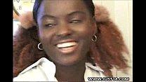 Ebony Schoolgirl Getting Interracial Threesome thumb