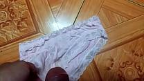 Sịp hồng hồng đáng yêu   Cum on panties compilation the best!