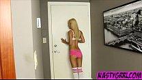 Skinny teen Uma Jolie seduces older guy and gets filled up