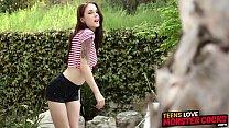 Teen hottie Anna DeVille gets her ass stretched...