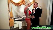Amazing nuru massage sex with sexy japanese teen babe 23