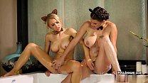 CrushGirls - Peta Jensen and Alix Lynx are horn...