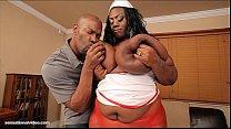Busty Black BBW Mz Diva Nurses A Huge Cock