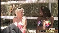 Ebony babe in group sex hardcore action 13
