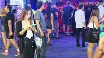 ฝรั่งมาเที่ยวไทยถ่ายคลิปตอนเดินหากระหรี่ไปเย็ดกลางดึกคลิปโป๊ไทย